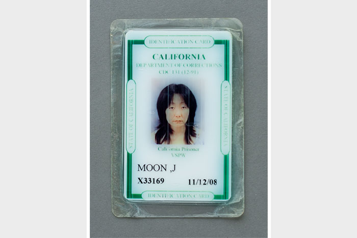 photograph of Jennifer Moon's California Department of Corrections Identification Card